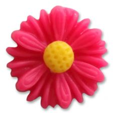 13mm CERISE PINK Matte Daisy Resin Flatback Cabochons